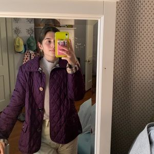 Authentic Burberry Purple Quilted Jacket